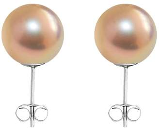 ORA Pearls - Small Gold Pearl Stud Earrings Sterling Silver