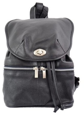 Piel Leather DOUBLE COMPARTMENT LEATHER BACKPACK