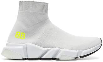 Balenciaga light grey Speed Knit slip-on sneakers