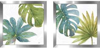 Bay Isle Home 'Tropical Blush VII' 2 Piece Framed Watercolor Painting Print Set