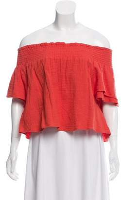 Apiece Apart Off-The-Shoulder Crop Top