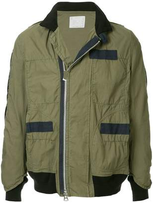 Sacai panelled field jacket