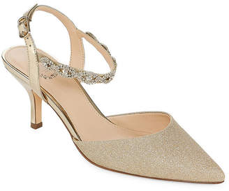 I. MILLER I. Miller Bryanna Womens Pumps Buckle Pointed Toe Cone Heel