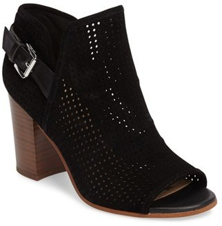 Women's Sam Edelman Easton Perforated Open Toe Bootie $139.95 thestylecure.com