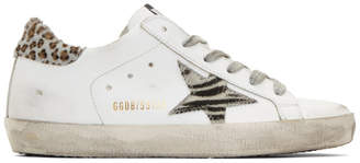 Golden Goose White Wild Superstar Sneakers