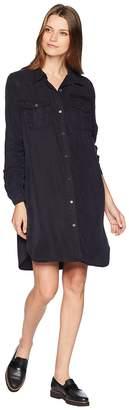 Vince Camuto Long Sleeve Lightweight Tencel Two-Pocket Button Down Dress Women's Dress