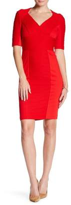 NUE by Shani Contrast Panel Dress