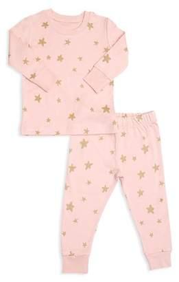 Tun Tun Girls' Shimmer Star-Print Pajama Shirt & Pants Set - Baby