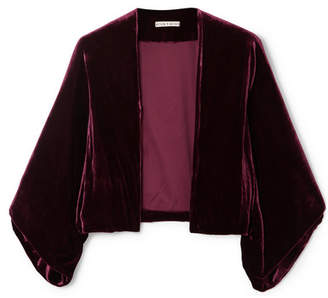 Alice + Olivia Alice Olivia - Donnie Velvet Jacket - Purple