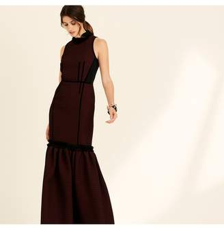 Amanda Wakeley Berry Sleeveless Jacquard Long Dress
