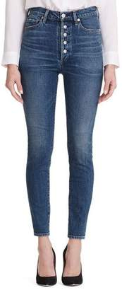 Citizens of Humanity Olivia High-Rise Skinny Jeans with Exposed Button Fly