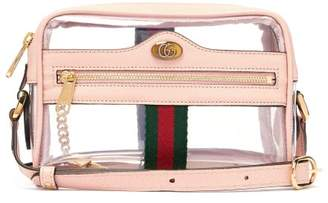 00a55618f7a9 Gucci Ophidia Mini Pvc And Leather Cross Body Bag - Womens - Light Pink