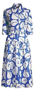 Piazza Sempione Women's Belted Floral Shirtdress