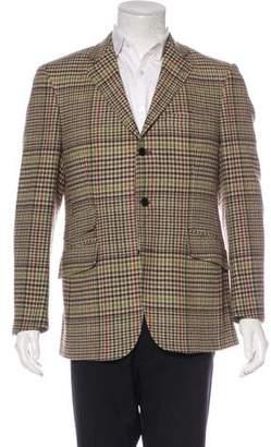 Etro Plaid Wool Blazer