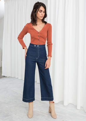 And other stories High Waisted Flared Jeans