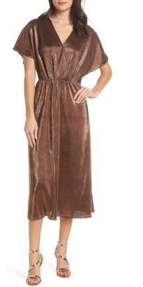 Charles Henry Crossover Midi Dress