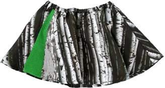 Digital Print Silk Satin Round Skirt