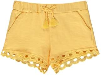 Chloé Sale - Pompom Embroidered Finish Fleece Shorts