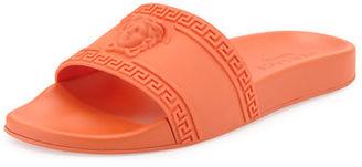 Versace Men's Medusa & Greek Key Shower Slide Sandal $295 thestylecure.com