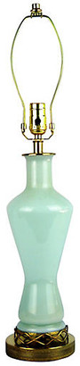 One Kings Lane Vintage Murano Glass Sea Foam Green Lamp - Acquisitions Gallerie