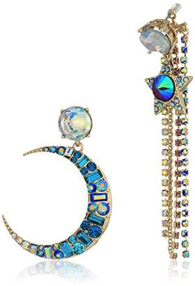 42ea987cf52 Betsey Johnson Earrings Style. Betsey Johnsoncrystal Crowned Skull Drop  Earrings