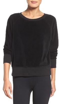 Women's Zella Velour Pullover $59 thestylecure.com