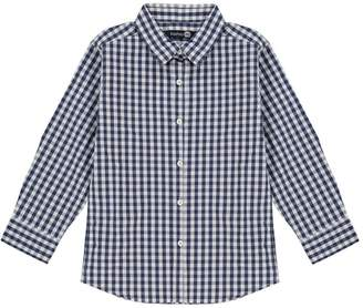 boohoo Boys Smart Gingham Long Sleeve Shirt