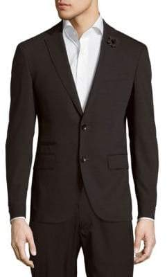 HUGO BOSS Solid Wool-Blend Jacket