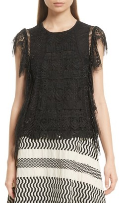 Women's Tracy Reese Flounce Lace Top $298 thestylecure.com