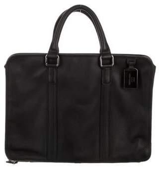 Giorgio Armani Pebbled Leather Briefcase w/ Tags black Pebbled Leather Briefcase w/ Tags