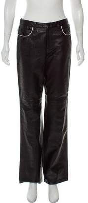 Ralph Lauren Leather Straight-Leg Pants w/ Tags