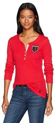 U.S. Polo Assn. Women's Long Sleeve Henley T-Shirt