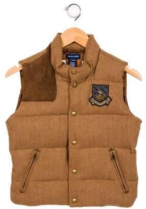 Ralph Lauren Boys' Wool-Blend Vest