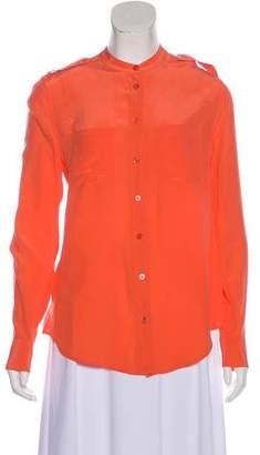 Equipment Silk Mandarin Collar Blouse