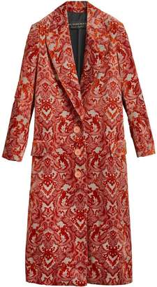 Burberry Damask Velvet Jacquard Tailored Coat