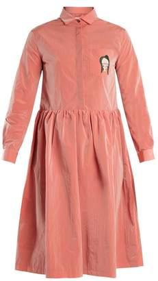 Shrimps - Gerald Face Appliqué Taffeta Dress - Womens - Pink