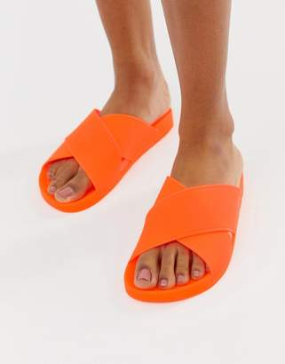 063094e3f4b1 Asos Design DESIGN Fruity jelly flat sandals