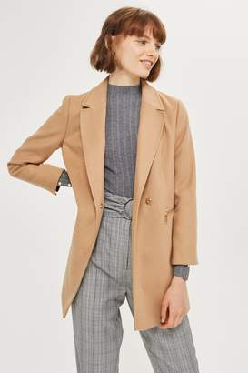 Petite zip pocket coat