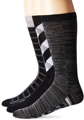 Muk Luks Men's Geometric Crew Socks