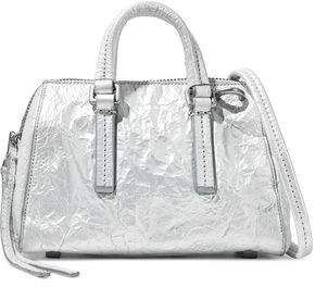 Rick Owens Metallic Crinkled Leather Shoulder Bag