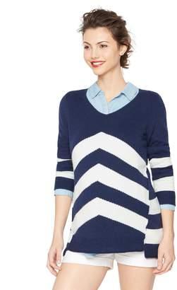 A Pea in the Pod Chevron Stripe Maternity Sweater
