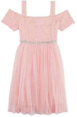 My Michelle Short Sleeve Cap Sleeve Party Dress - Big Kid Girls