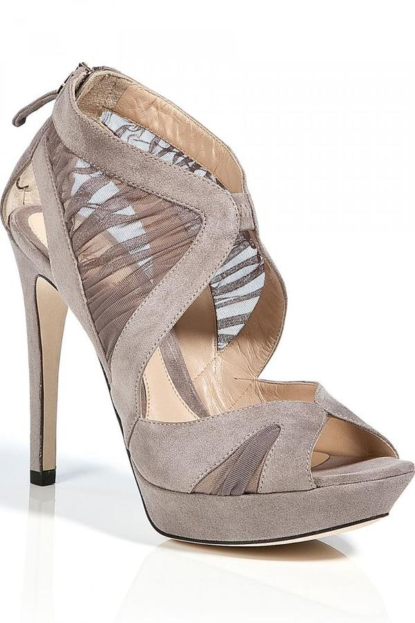 Fendi Taupe Suede Sandals