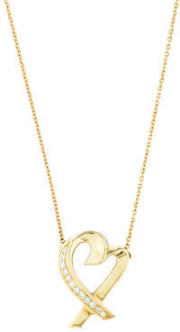 Tiffany & Co. Paloma Picasso Diamond Loving Heart Pendant Necklace $995 thestylecure.com