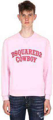 DSQUARED2 Dan Fit Cowboy Printed Jersey Sweatshirt