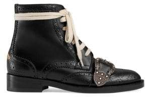 Gucci Queercore Moto Leather Booties