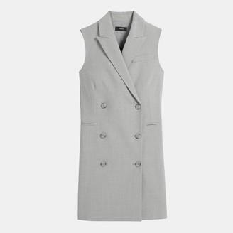 1467560e776c1 Good Wool Sleeveless Blazer Dress