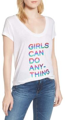 Zadig & Voltaire Girls Can Do Anything Graphic Tee