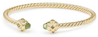 David Yurman Renaissance Bracelet with Peridot in 18K Gold