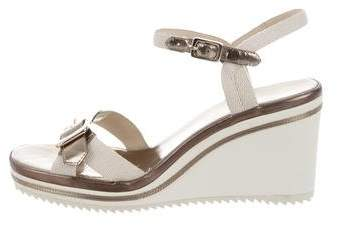 Marc by Marc Jacobs Metallic Multistrap Wedges